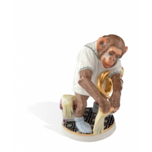 Horn player in the Monkey Orchestra