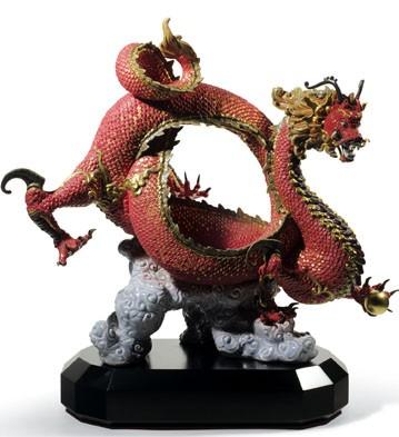 Покровительствующий дракон (красный)