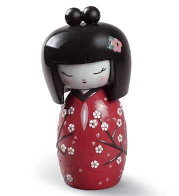 Японская кукла кокеши (красная)