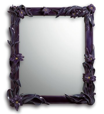 MIRROR WITH LILIES (PURPLE)