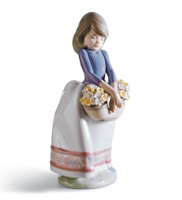 May Flowers Girl Figurine