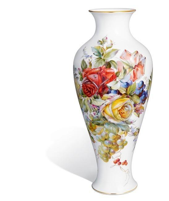 Ваза «Живопись цветов и фруктов»