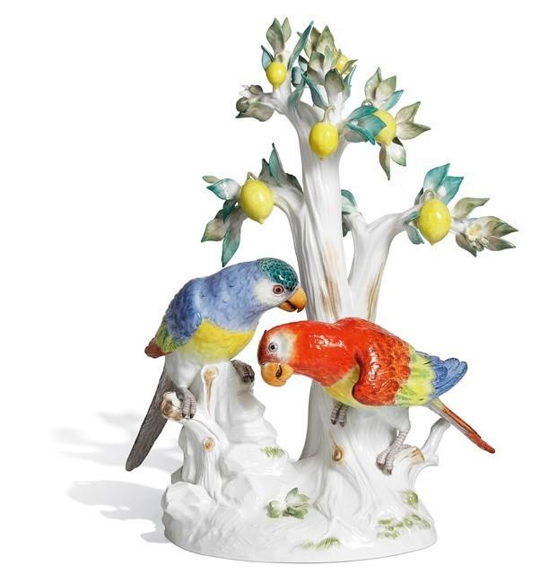 Попугаи с деревом лимона