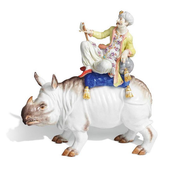 Турок на носорогe