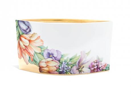 Ваза, цветочная роспись в стиле Моники Зайнар