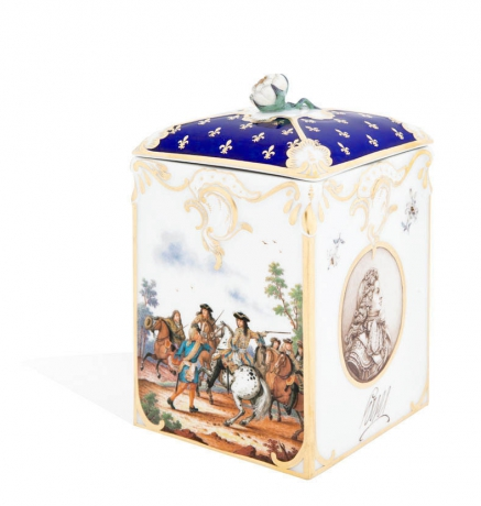 Tea caddy, Portrait of King Ludwig XIV