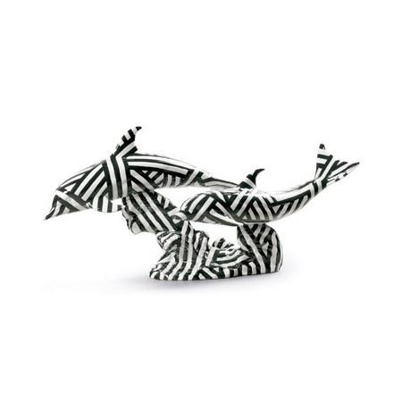 Танец Дельфинов (черно-белый декор)