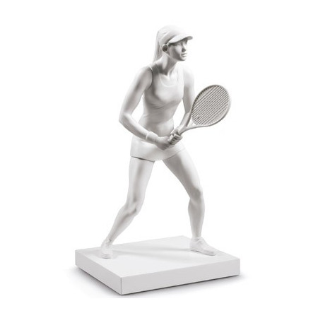Lady Tennis Player Figurine