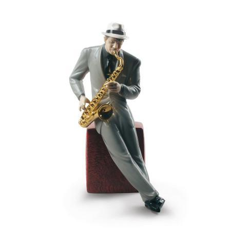 Jazz Saxophonist Figurine