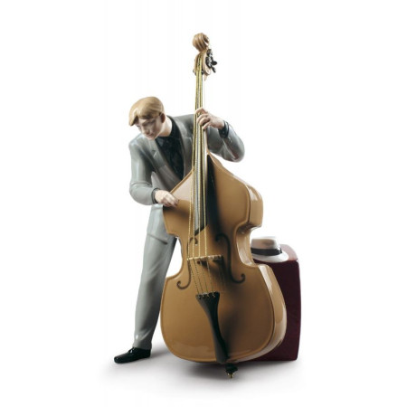 Jazz Bassist Figurine