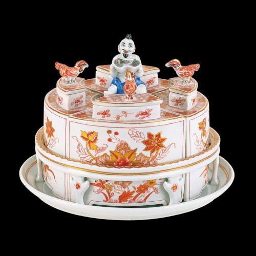 Набор коробочек для чая на подносе с фигуркой Мандарина