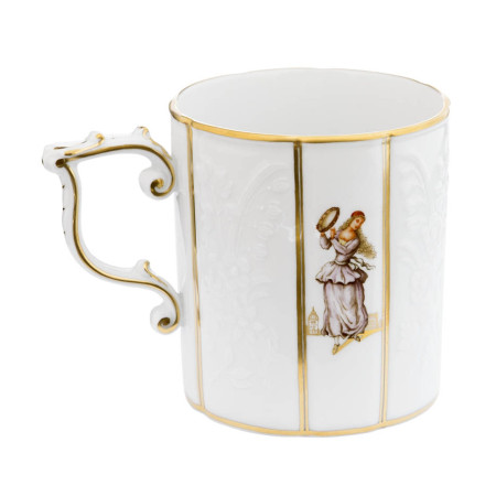 Gotzkowsky relief-design coffee mug with