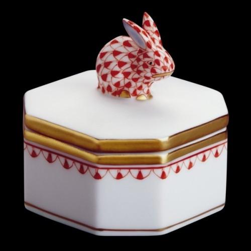 Декоративная коробочка, ручка в виде кролика