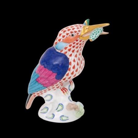 Зимородок с рыбой