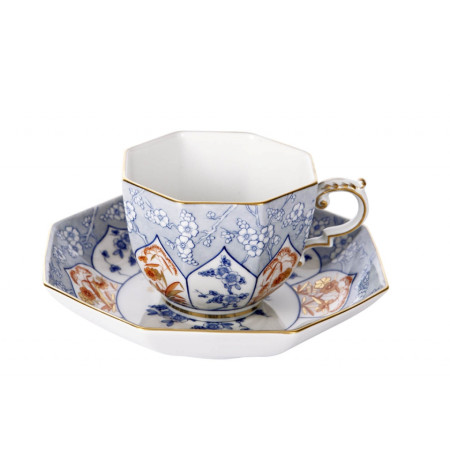 Cup and saucer with