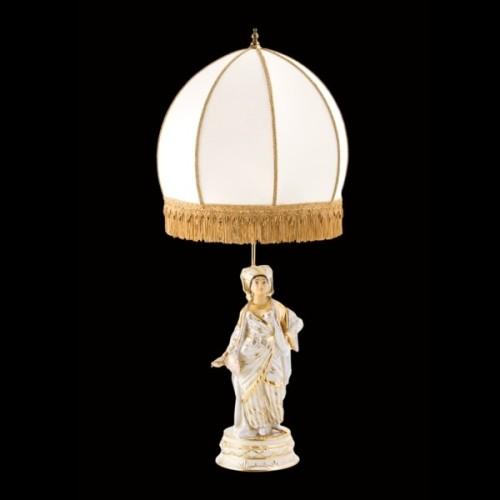 Лампа, фарфоровая фигура