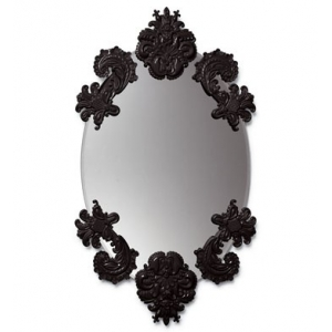 OVAL MIRROR WITHOUT FRAME (BLACK)