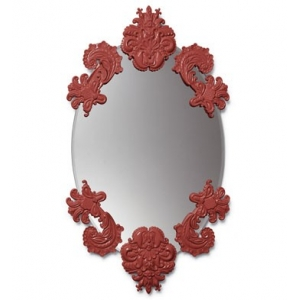 OVAL MIRROR WITHOUT FRAME (RED)
