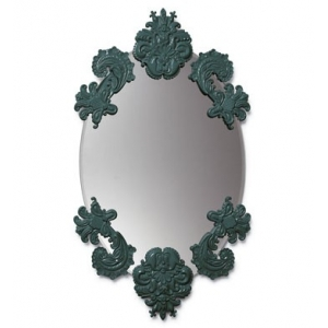 OVAL MIRROR WITHOUT FRAME (GREEN)