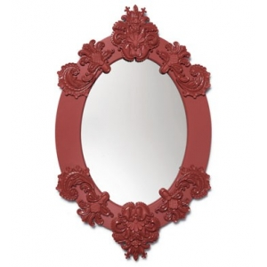 OVAL MIRROR (RED)