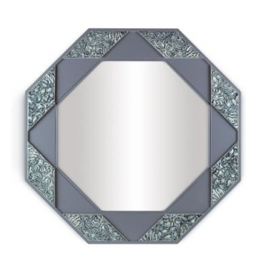 EIGHT SIDED MIRROR (BLUE)