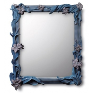 MIRROR WITH LILIES (BLUE)