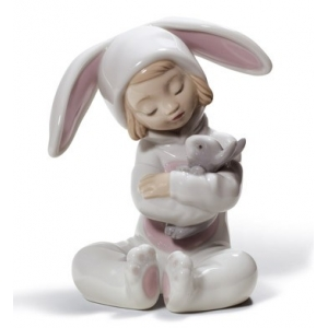 Bunny Hugs Boy Figurine