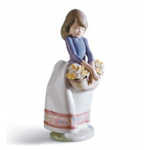 May Flowers Girl Figurine