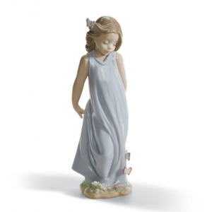 Friend of The Butterflies Girl Figurine
