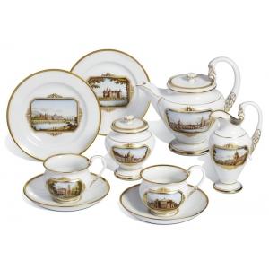 Чайный набор на две персоны «Пейзажи Дрездена»