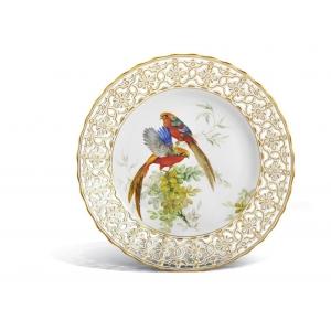 Тарелка, экзотические птицы