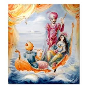 Картина, сказочная лодка