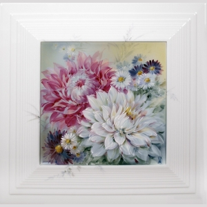 Painting, dahlias