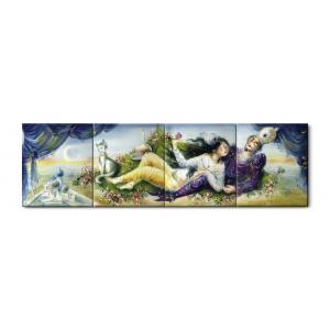 Картина «Восточная любовная пара», 1001 ночь по профессору Х.Вернеру