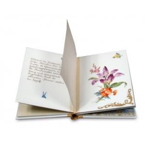 Porcelain Book, Porcelain book 'Meissen flowers', Limited Masterpiece, lim., num., 11,5 x 8,5 cm