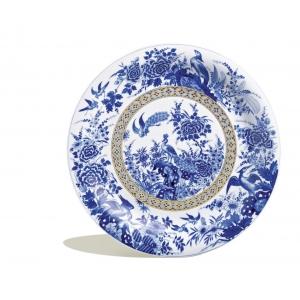 Wall Plate, Bird paradise, cobalt blue and gold, lim., num., 46 cm