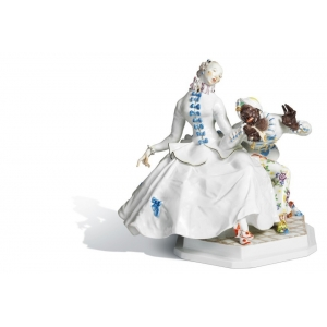 Lady with moor, H 26 cm