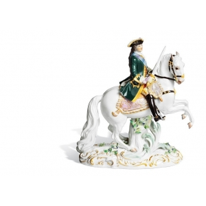 Empress Catherine II on horseback, H 25 cm