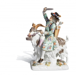 Tailor on he-goat, H 21,5 cm