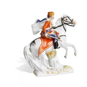 Hussar on horseback, H 18,5 cm