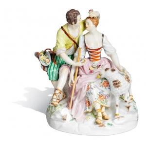 Shepherd couple, H 19 cm