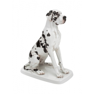 Great Dane, Coloured, without gold, H 25 cm