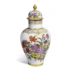 Ваза с крышкой «Старая живопись цветов 1730 года»