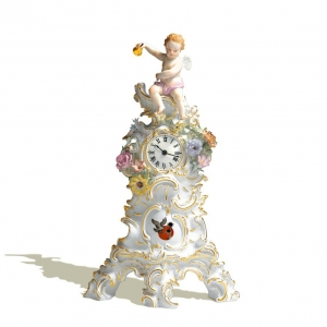 Clock with cupid