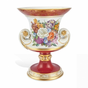Vase, Flower Painting, Style mid of 19 century