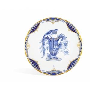 Wall plate, Pheasant on flower basket