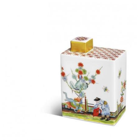 Банка для чая, роспись в стиле шинуазри по Штадлеру