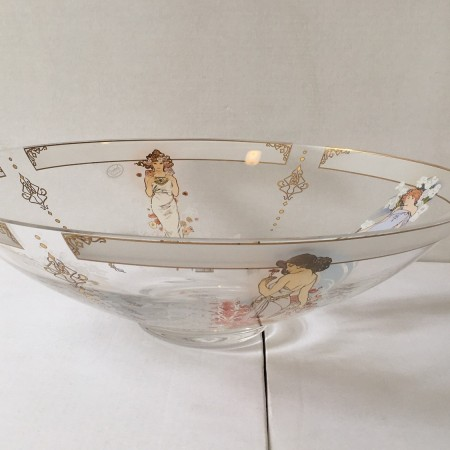 Footed Bowl Mucha – The 4 flowers