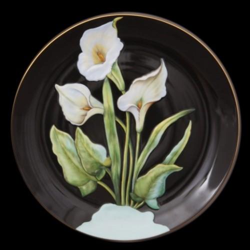 Настенная тарелка, с рельефным узором