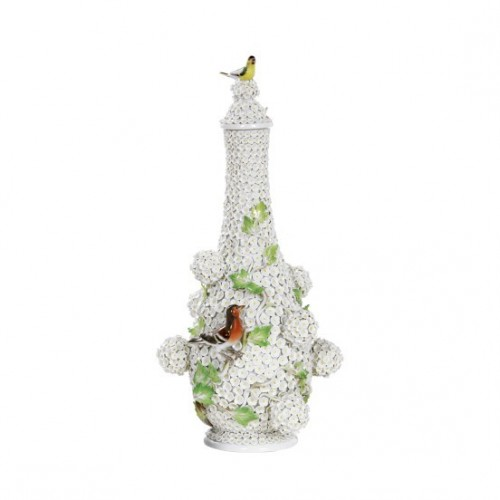 Scent Bottle with Snowball Blossoms